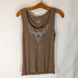 Nicole by Nicole Miller Tops - Super Soft Rhinestone Tank Top sz L